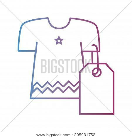 line clothes with tag to shopping new style vector illustration