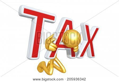 The Original 3D Character Illustration Trapped In A Tax Yoke