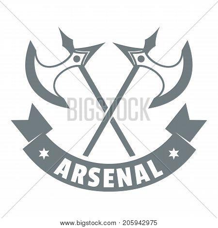 Medieval axe logo. Simple illustration of medieval axe vector logo for web