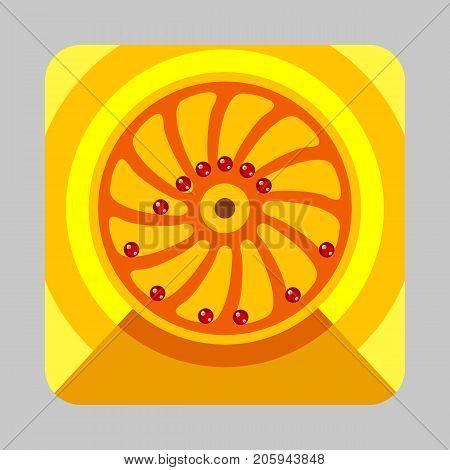 Gravitation engine concept background. Cartoon illustration of gravitation engine vector concept background for web design