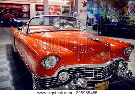 ST PETERSBURG, RUSSIA - JUNE 1, 2017: Cadillac Eldorado, icon of the USA style.