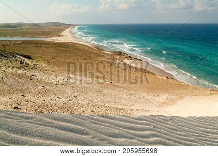 Deleisha beach on Socotra island in Yemen