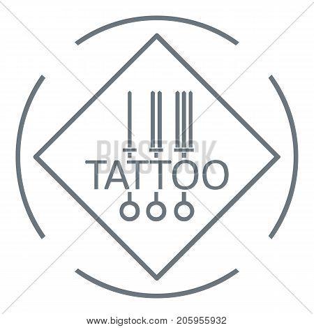 Tattoo pictogram logo. Simple illustration of tattoo pictogram vector logo for web