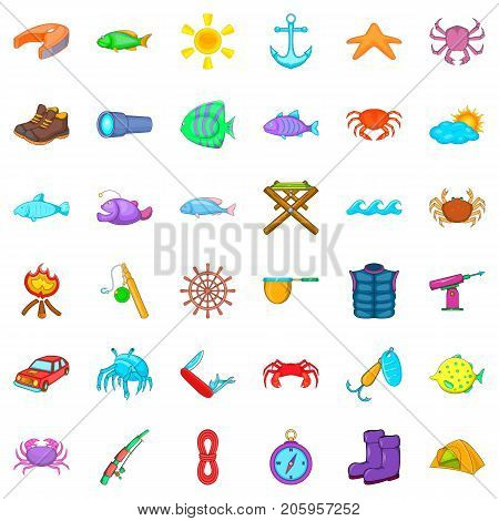 Tube icons set. Cartoon style of 36 tube vector icons for web isolated on white background