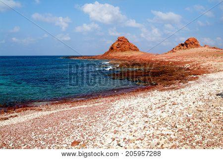 The Beach Of Dihamri On The Island Of Socotra