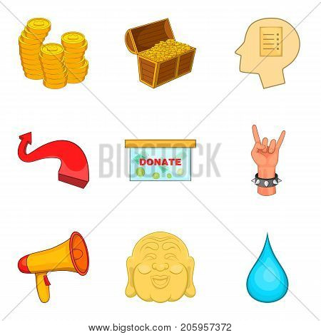 Regret icons set. Cartoon set of 9 regret vector icons for web isolated on white background