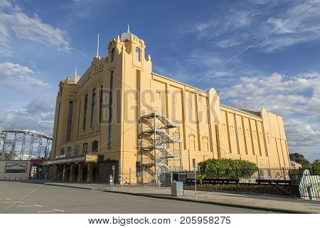 St Kilda, Australia: March 15, 2017: The Palais Theatre is a concert venue and theatre located in the Melbourne inner suburb of St Kilda. It is the largest seated theatre in Australia.