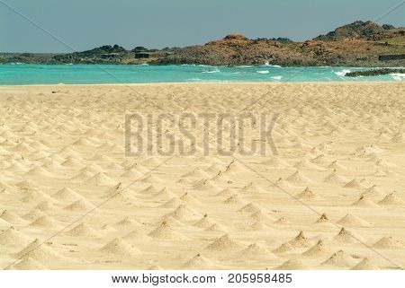 The Beach Of Ras Irisseyl On Socotra Island