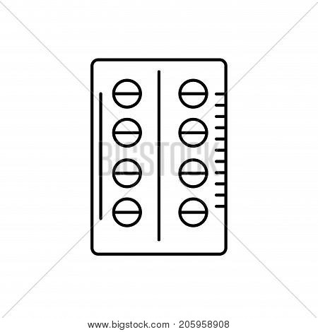 line pill pharmaceutical medicine to treatment vector illustration