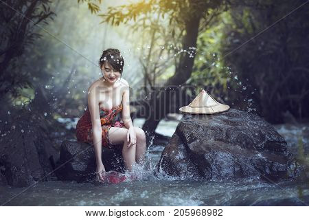 Bathing Woman