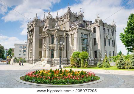 KIEV UKRAINE- May 18 2011:House with Chimeras is the most original creation of architect Vladislav Gorodetsky in Kiev