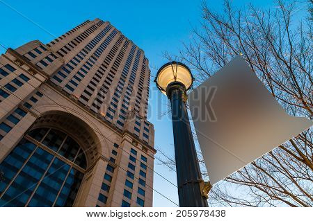Atlanta Georgia USA - January 12 2016: Bottom view of the