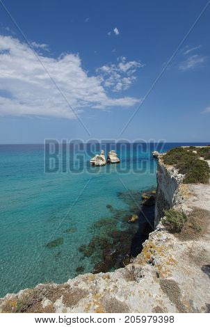 Two Sisters Rocks at Torre dell Orso Italy