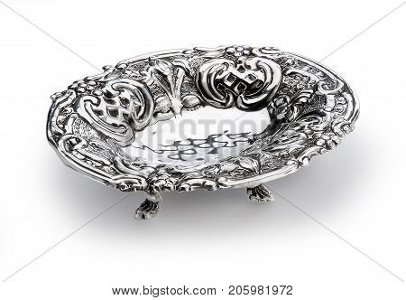 Oval Bowl Embossed With Feet Sheffield