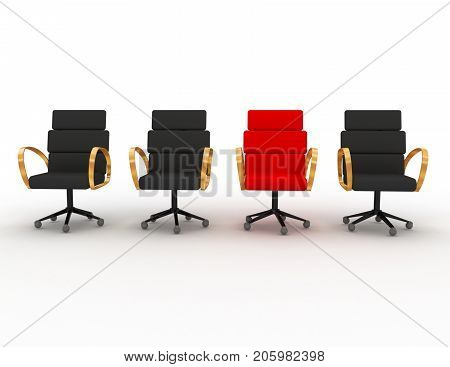 unique concept with seating . 3d rendered illustration