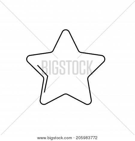 line nice star spartly design icon vector illustration
