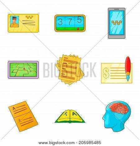 Enumeration icons set. Cartoon set of 9 enumeration vector icons for web isolated on white background
