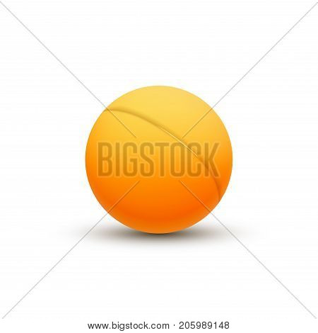 3d ping pong ball. Vector ping pong club department ball.