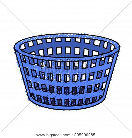 basket to dirty clothes and domestic housework vector illustration poster