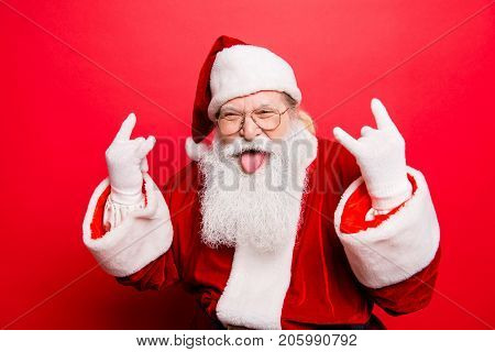 It's Party Time! Holly Jolly Swag X Mas And Noel!  Cool Funny Playful Naughty Grandfather With Stick