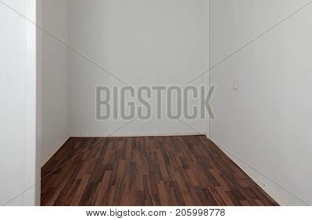 Empty room after renovation in Scandinavian style