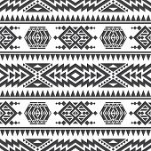 American aztec vector seamless texture. Native tribal indian repetitive pattern. Seamless mexican navajo geometric pattern illustration poster