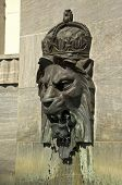 Royal lion head fountain at the War Memorial in Adelaide South Australia poster