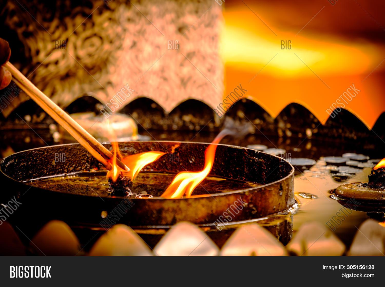 Incense Stick Burning Image Photo Free Trial Bigstock
