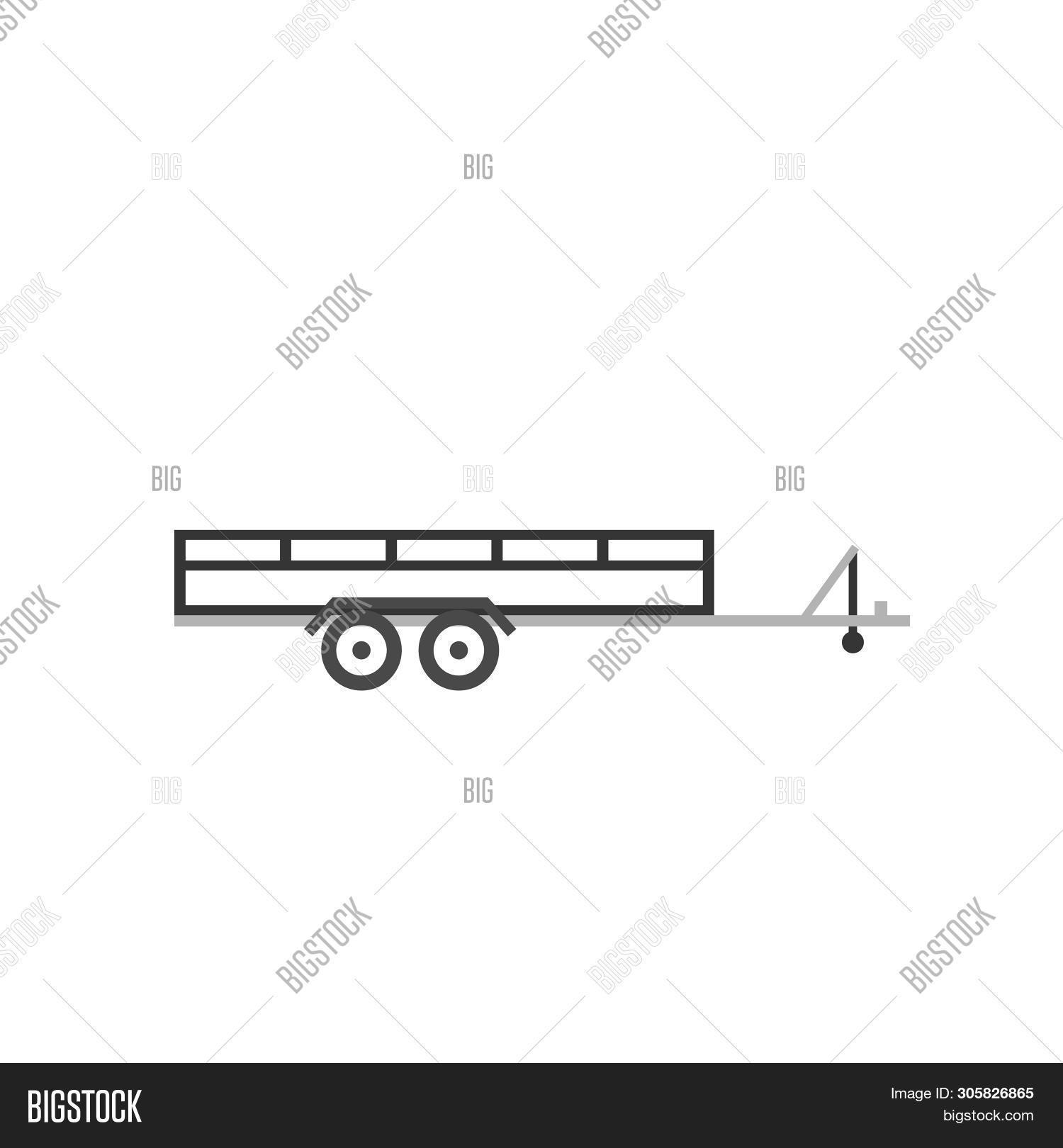 Large Open Car Trailer Image & Photo (Free Trial) | Bigstock