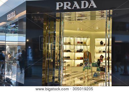 Houston, Tx - Apr 22: Prada Store At The Galleria Mall In Houston, Texas, As Seen On Apr 22, 2019. I