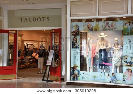 Houston, Tx - Apr 22: Talbots Store At The Galleria Mall In Houston, Texas, As Seen On Apr 22, 2019.