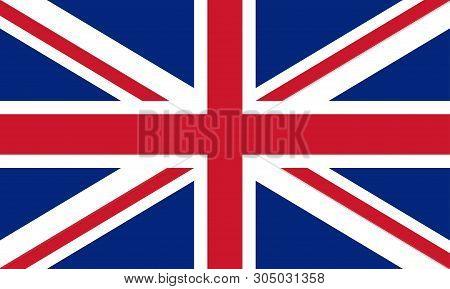 United Kingdom Flag. Great Britain National Symbol. British Flag. Vector Illustration.