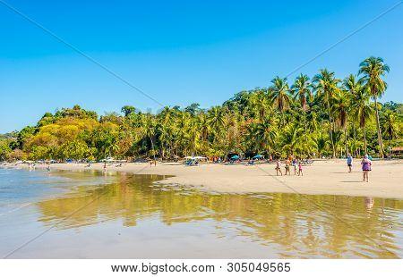 Manuel Antonio,costa Rica - March 25,2019 - View At The Beach Espadilla In Manuel Antonio National P