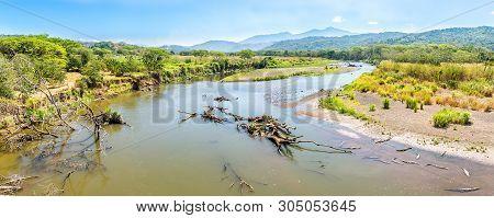 Panoramic View At The River Tarcoles From Crocodile Bridge - Costa Rica