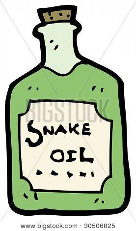 cartoon snake oil bottle