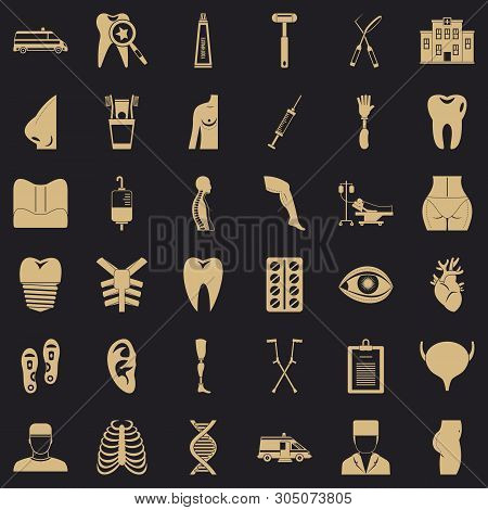Apothecary Icons Set. Simple Set Of 36 Apothecary Vector Icons For Web For Any Design