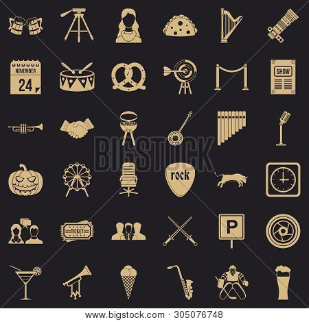 Proceeding Icons Set. Simple Set Of 36 Proceeding Vector Icons For Web For Any Design