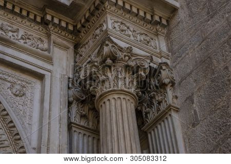 Corinthian columns. Assumption of the Virgin Cathedral (Santa Iglesia Catedral - Museo Catedralicio), Jaen, Andalucia, Spain poster