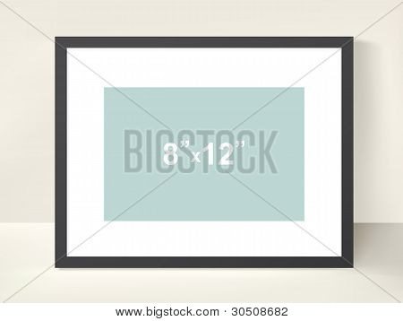 Vector picture frame for a presentation of photos or illustrations poster