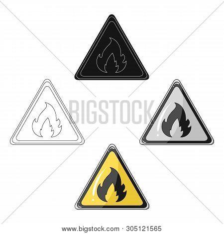 Sign Of Flammability.oil Single Icon In Cartoon, Black Style Vector Symbol Stock Illustration Web.