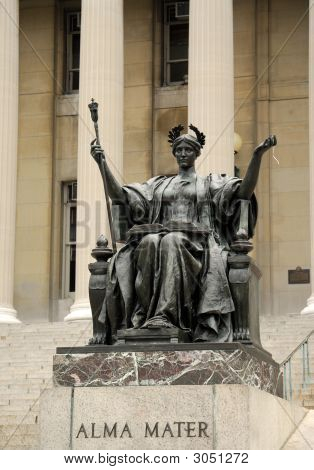Statue Of Alma Mater At Columbia University