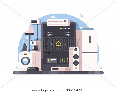 Smart Home Control Using Tablet. Washing Machine