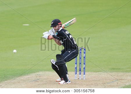 LONDON, ENGLAND. 05 JUNE 2019: Kane Williamson of New Zealand batting during the Bangladesh v New Zealand, ICC Cricket World Cup match, at the Kia Oval, London, England.