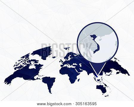 Vietnam Detailed Map Vector & Photo (Free Trial) | Bigstock