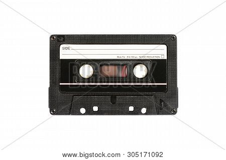 Audio Compact Cassette. Analog Tape Format For Audio Playing And Recording. Vintage Audio Cassette I