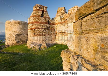 Fortress of old town Nessebar, Bulgaria