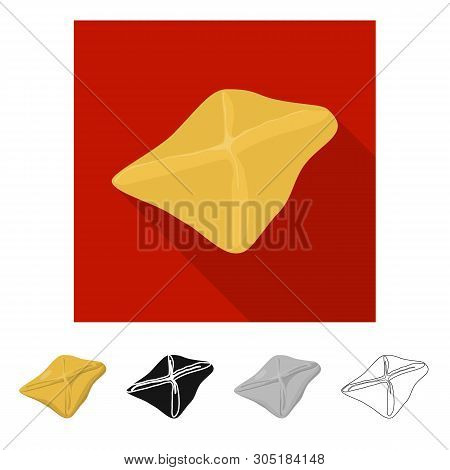 Vector Design Of Manti  And Jiaozi Icon. Collection Of Manti  And Dough Vector Icon For Stock.