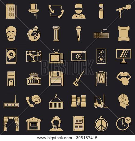 Widget Icons Set. Simple Set Of 36 Widget Vector Icons For Web For Any Design