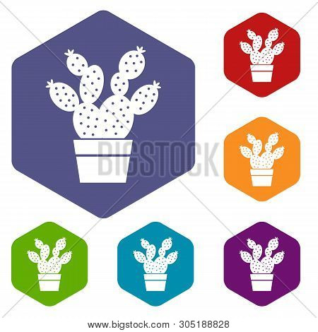 Prickly Pear Icon. Simple Illustration Of Prickly Pear Vector Icon For Web