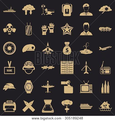 Detachment Icons Set. Simple Set Of 36 Detachment Vector Icons For Web For Any Design